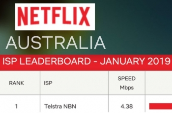Telstra boasts of No.1 Netflix speed ranking 12 months in a row