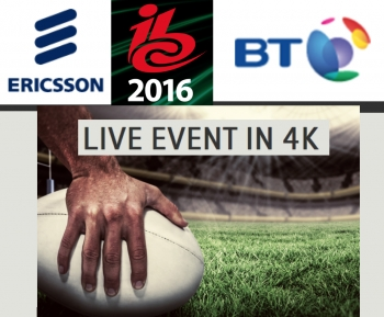 Ericsson and BT showcase live HEVC 4K cutting-edge broadcast