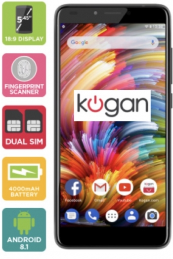 Kogan's Agora 9 smartphone packs 4000mAh battery with 5.45-inch 18:9 screen for $169