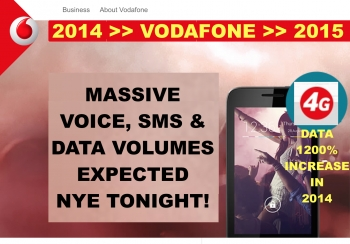 Vodafone expects massive demand on NYE 2014