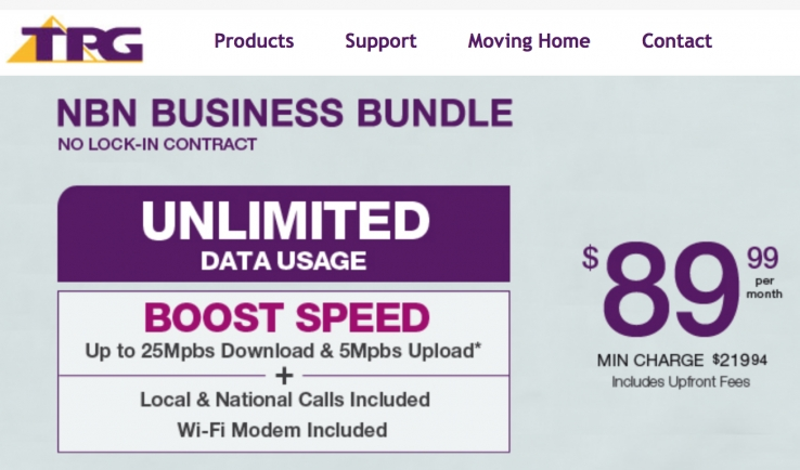 iTWire - TPG's NBN bundles for small business