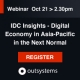 OutSystems to co-host webinar with IDC, focusing on agility and the necessity of faster, omni-channel user experiences