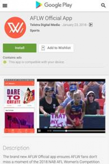 Telstra launches AFLW app for 2018 season
