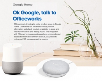 VIDEO: Officeworks 'first big-box retailer' to integrate with Google Assistant