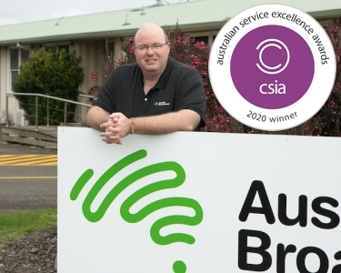 Aussie Broadband: winner of a top national customer service excellence award