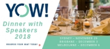 A Dinner with YOW! Speakers – Celebrating 10 years