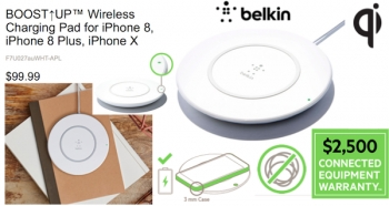 Belkin's new 'BOOST↑UP' pad can wirelessly Qi charge iPhone 8, 8 Plus and iPhone X