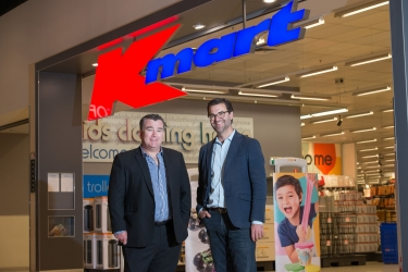 Michael Fagan, CTO of Kmart Group and Paul Migliorini, MD of AWS, ANZ