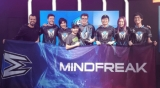 Mindfreak Heroes of the Storm team: Reagan, John, Vanilla, Albert, Fat94, Ryoo, Jenna and Madhax.
