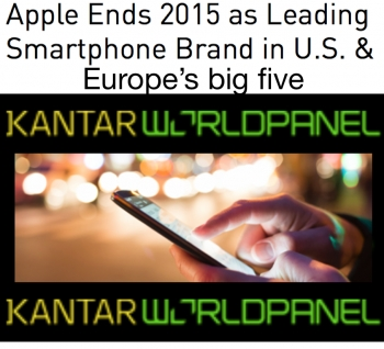 Kantar OS stats: Apple leads as top brand in US, China but Android grows in US, Europe