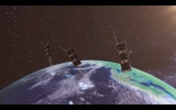 Artist impression of Sky and Space Global's 3 Diamonds satellites in orbit