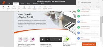 Nitro Productivity Suite blasts into PDF and e-signing market