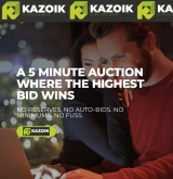 Kazoik - a new five minute auction for consumer and business tech products