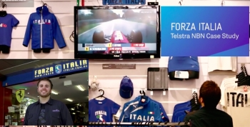 VIDEO: Telstra previews FTTB NBN experience in Melbourne Forza Italia store