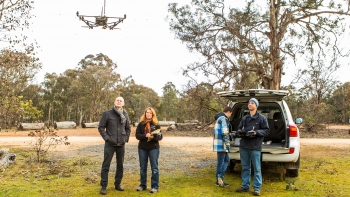 Drones track radio-tagged wildlife