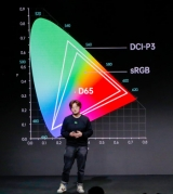 An OPPO engineer explaining the colour management system.
