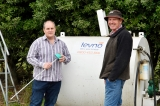 Levno's Ray Connor and farmer James Griffin