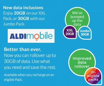 ALDImobile offers up to 30GB data with 'no expiry date' rollover