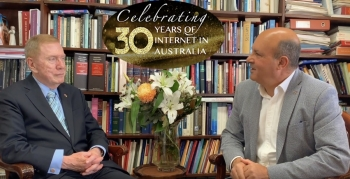 VIDEO: Peter Coroneos talks with The Hon Michael Kirby about technology, internet and the law