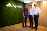 AgriWebb co-founders (l to r) Kevin Baum, John Fargher, Justin Webb