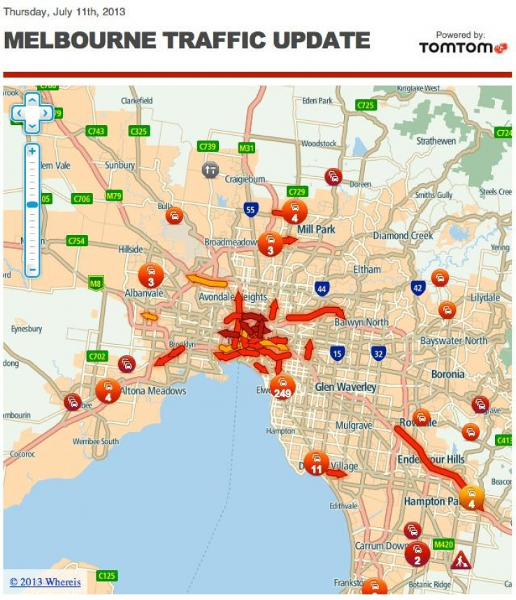 iTWire - Yahoo!7 News gets live traffic feed from TomTom