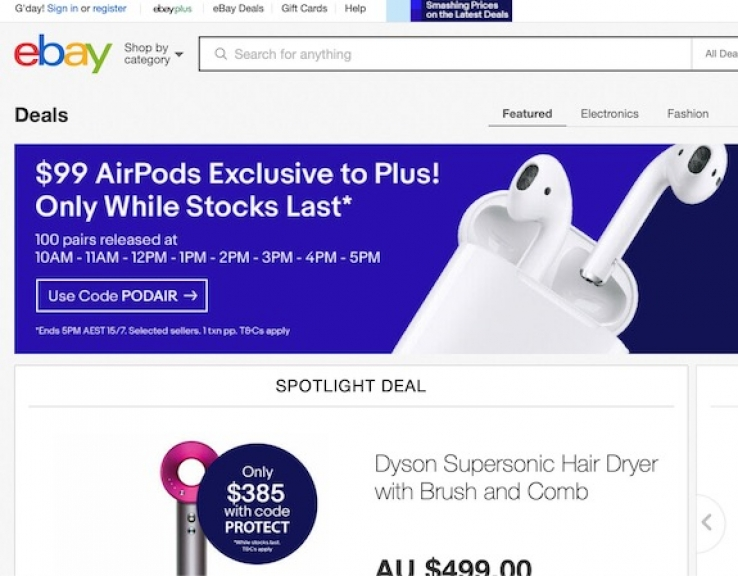 Itwire Amazon S Sale Sees Competition Ramp Up With Ebay Offering Airpods For 99 And More