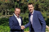 Service Potential's Matt Campbell and Epicon's Wayne Gowland seal the deal