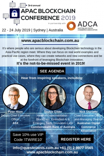 APAC Blockchain Conference 2019 - Going beyond the hype to capture the strategic value of this revolutionary technology