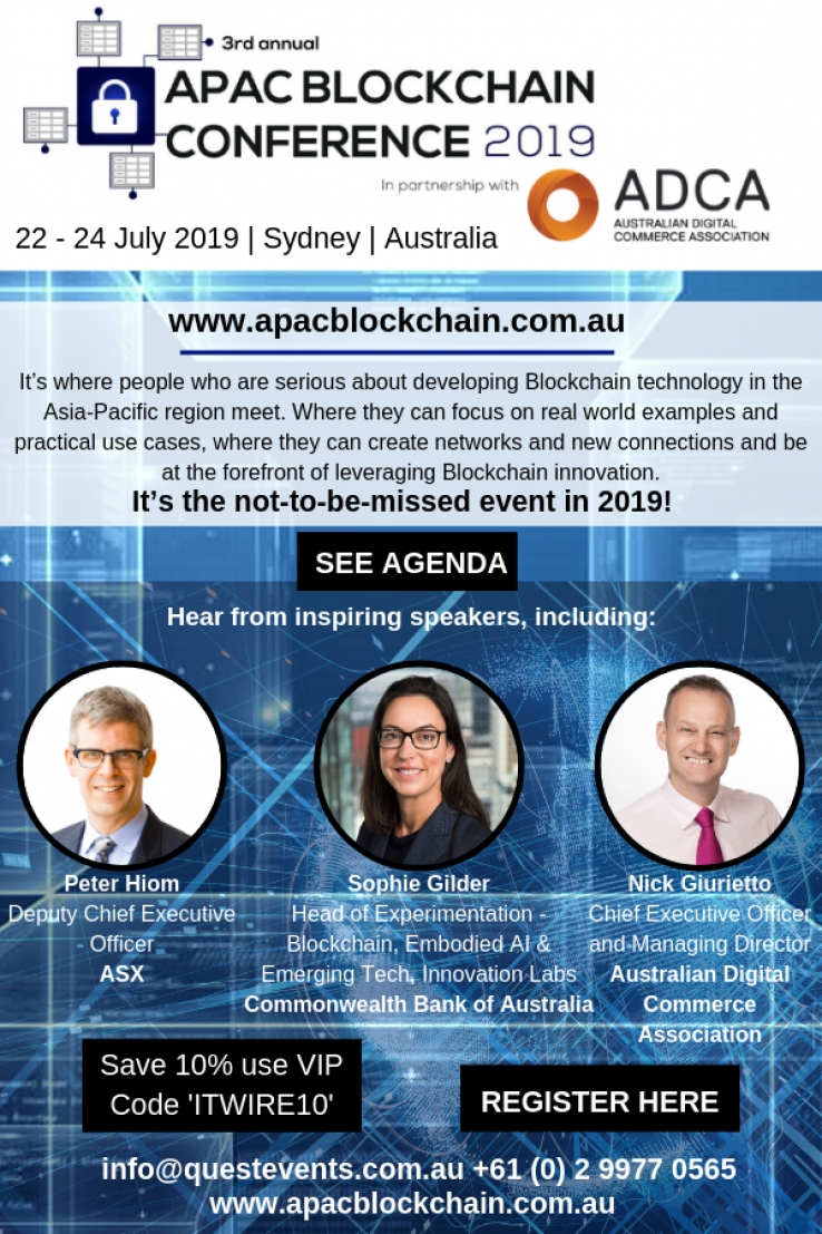 iTWire - APAC Blockchain Conference 2019 - Going beyond the hype to