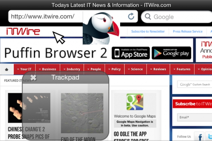 iTWire - Puffin: magically dragging Adobe Flash onto iPad, iPhone