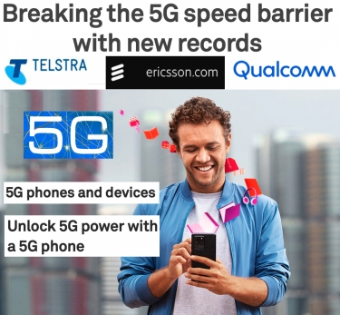 'World first': 5Gbps download speed over 5G achieved by Telstra, Ericsson and Qualcomm
