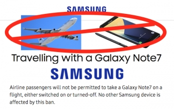 Note7 banned on Australian flights, Samsung to swap phones at airports