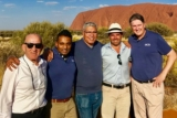 Representatives from ACS, Charles Darwin University and Chanston Paech at Uluru.