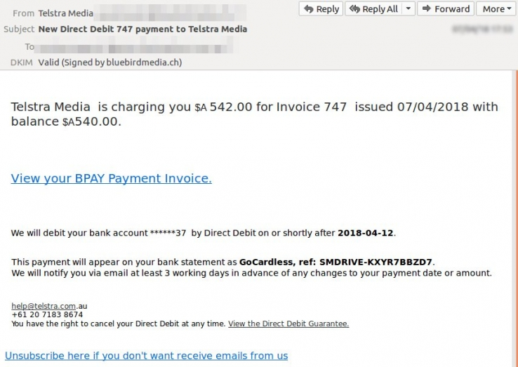 itwire scam email a fake telstra media invoice