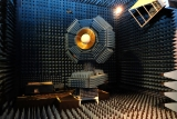 The new receiver being tested in the CSIRO's anechoic chamber