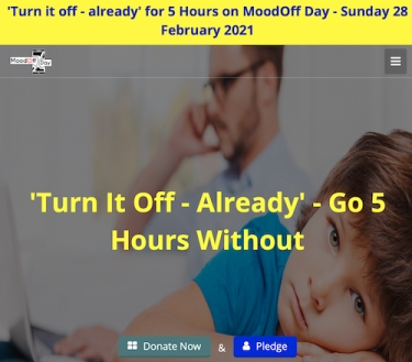 MoodOff Day: Turn off your phone for 5 hours to raise awareness of smartphone addiction on Feb 28