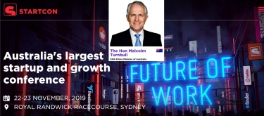 Former PM Malcolm Turnbull to talk innovation and more at StartCon 2019