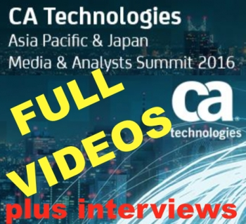 EXCLUSIVE VIDEOS: CA Technologies API Application Economy APJ Summit 2016