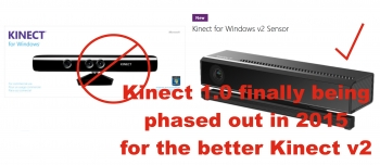 The original Windows Kinect will be diskinected