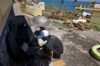 TSF set up communication lifelines in the Dominican Republic last year following Hurricane Maria