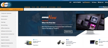 The Newegg homepage.