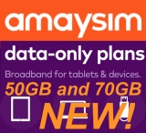 Amaysim adds 50GB and 70GB data-only plans to mobile data suite