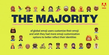 Adobe report highlights desire for more diverse and inclusive emojis