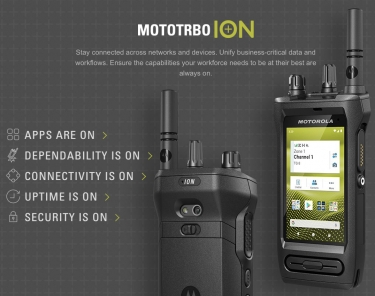 Motorola presses turbo button with MOTOTRBO Ion next-gen biz-ready smart radio with Android, broadband and app ecosystem