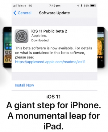 iOS 11 Public Beta 2 launches over weekend, looking solid and stable